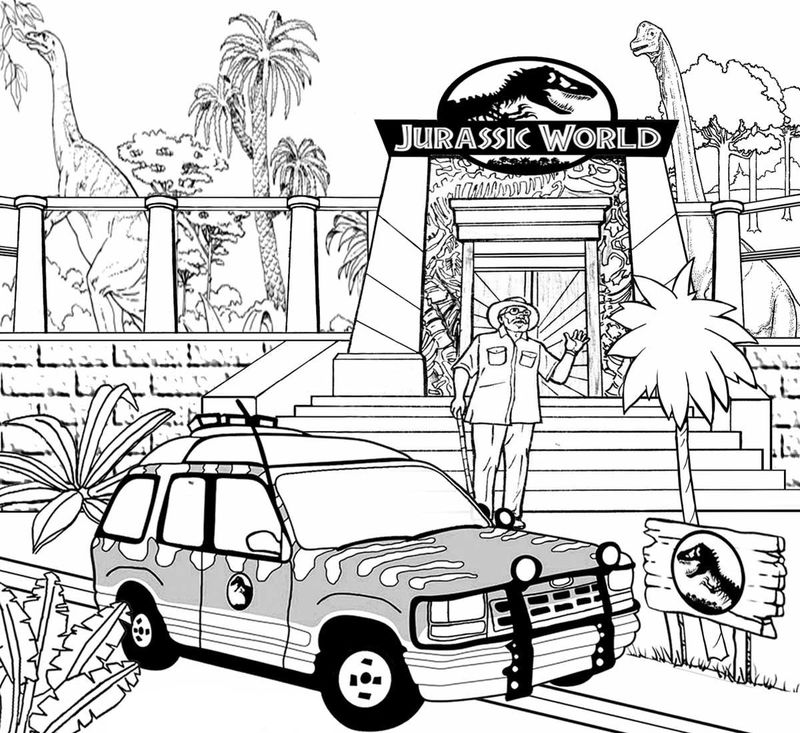 jurassic world evolution coloring pages