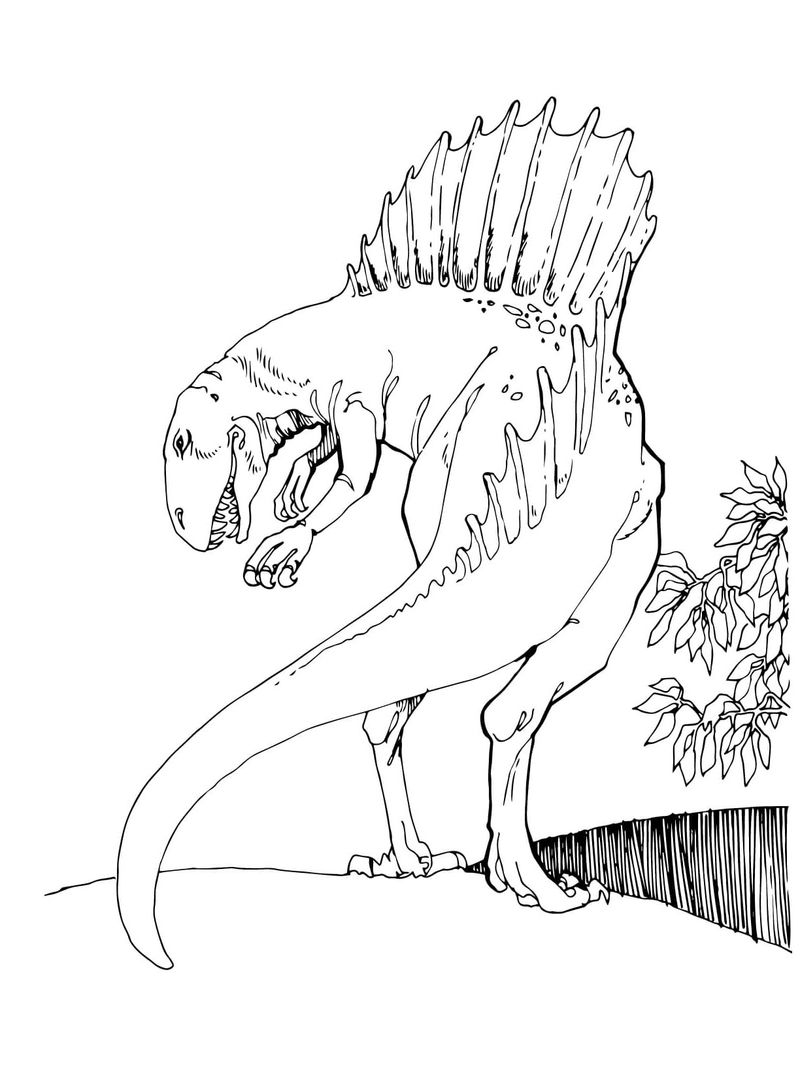 jurassic world hybrid coloring pages