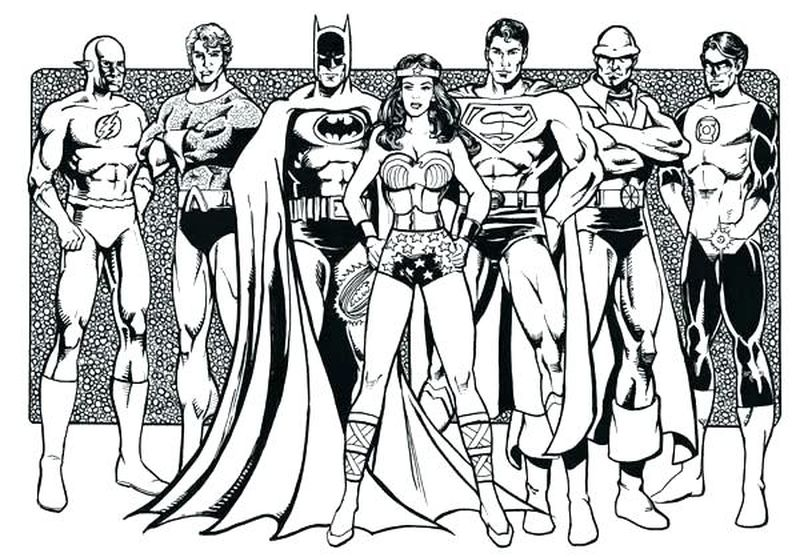 justice league cartoon coloring pages