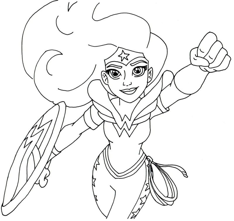 justice league characters coloring pages