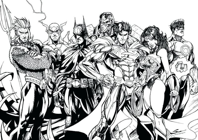 justice league coloring pages printable
