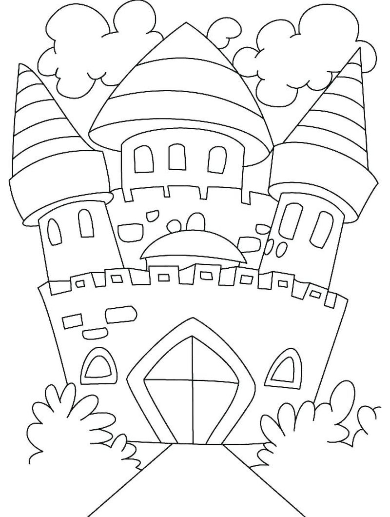knight castle coloring pages