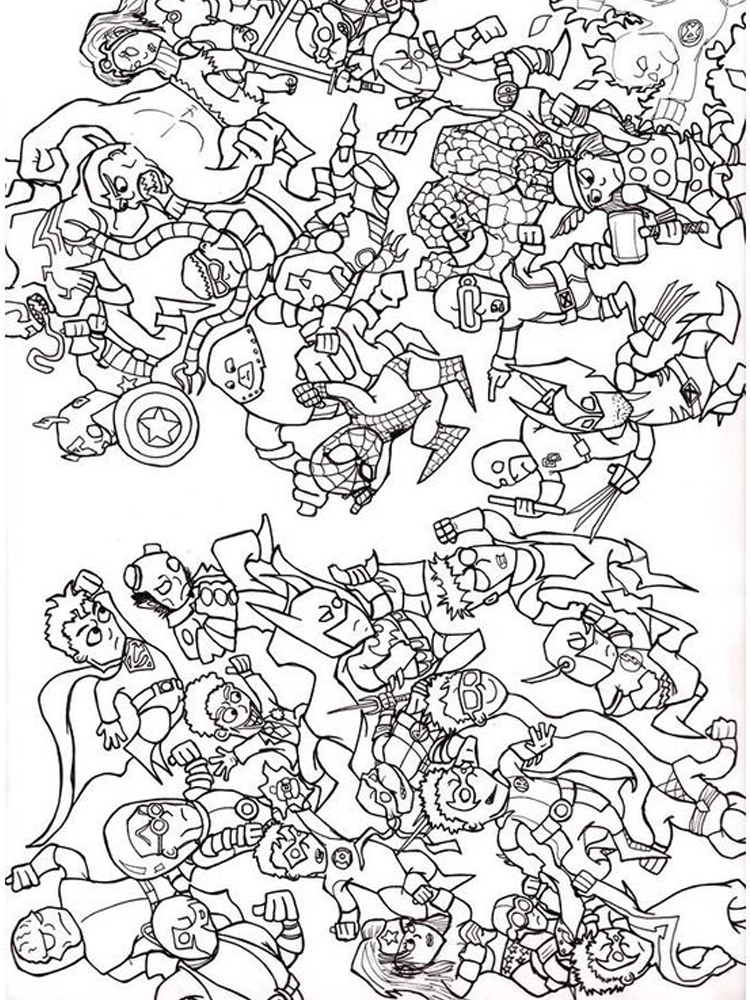 lego dc coloring pages free