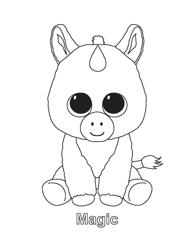 leona beanie boo coloring page