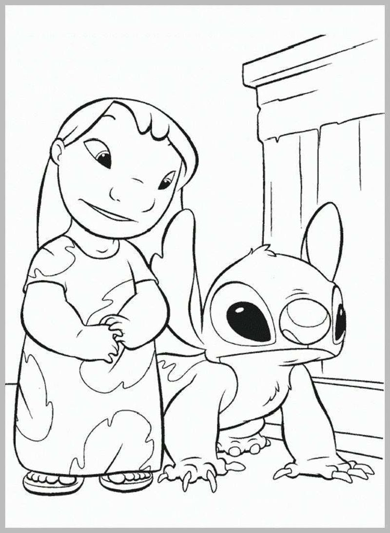 leroy and stitch coloring pages