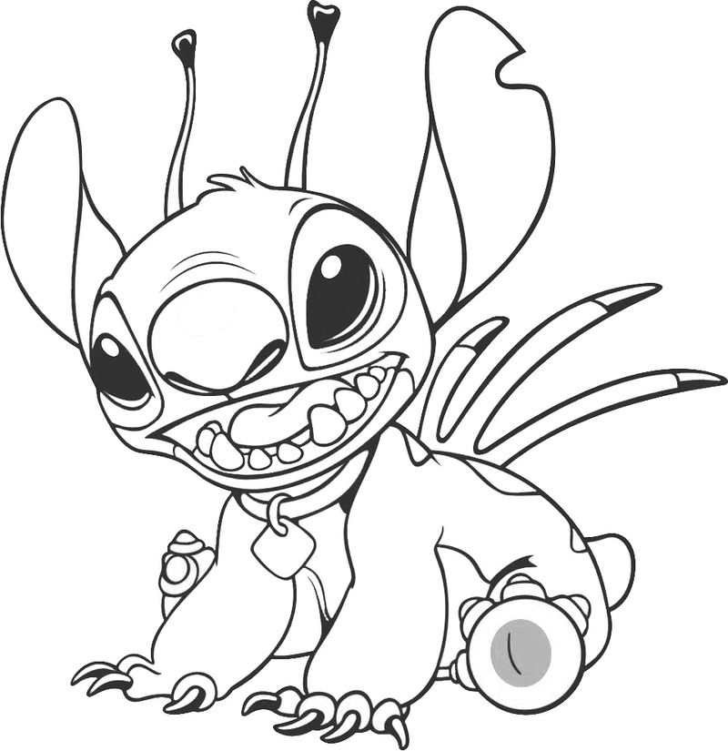 lilo and stitch coloring book pages