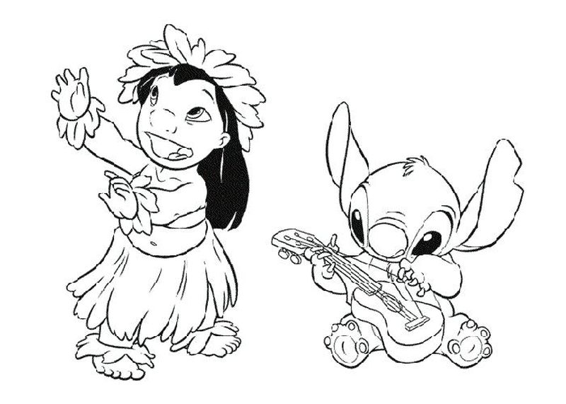 lilo and stitch coloring pages printable