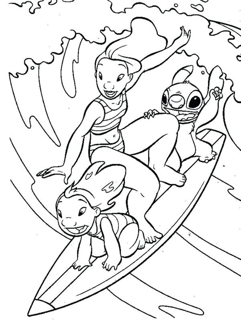 lilo and stitch coloring pages to print