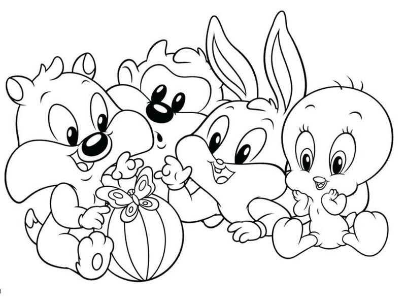 looney tunes coloring pages for adults