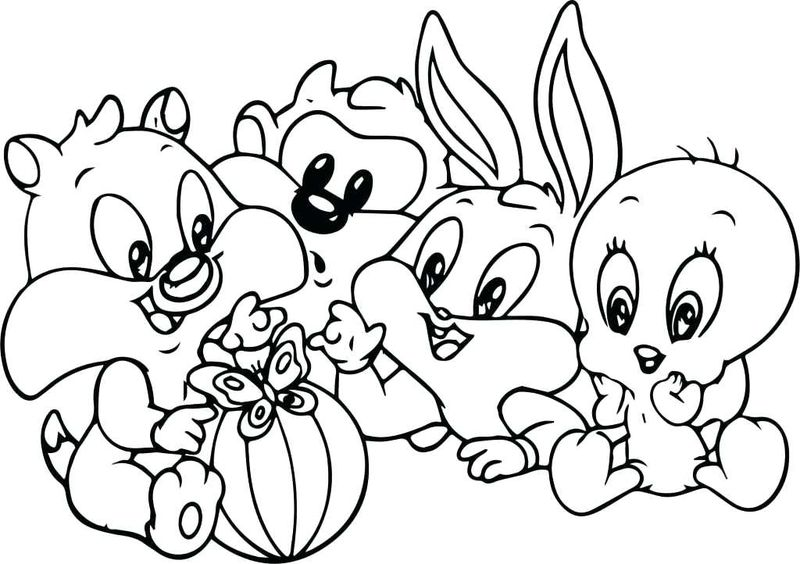 looney tunes colouring pages