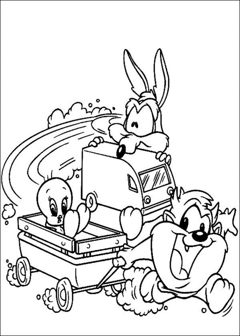 looney tunes lola coloring pages