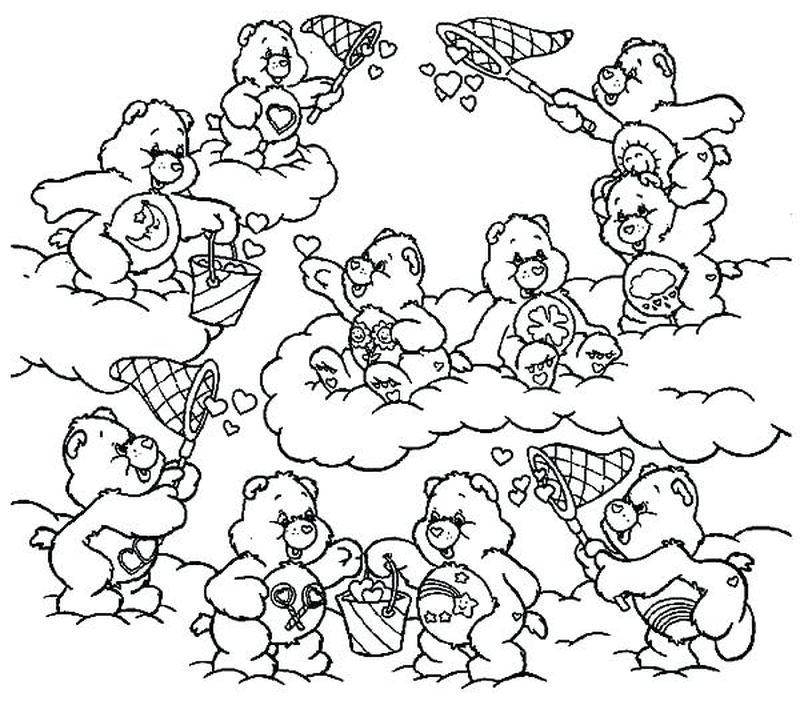 love care bear coloring pages