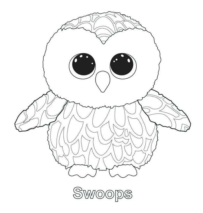 maddie beanie boo coloring page