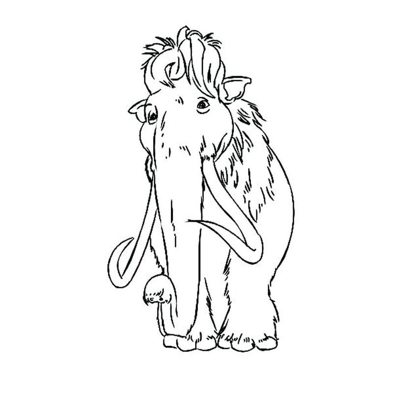 manny ice age coloring pages