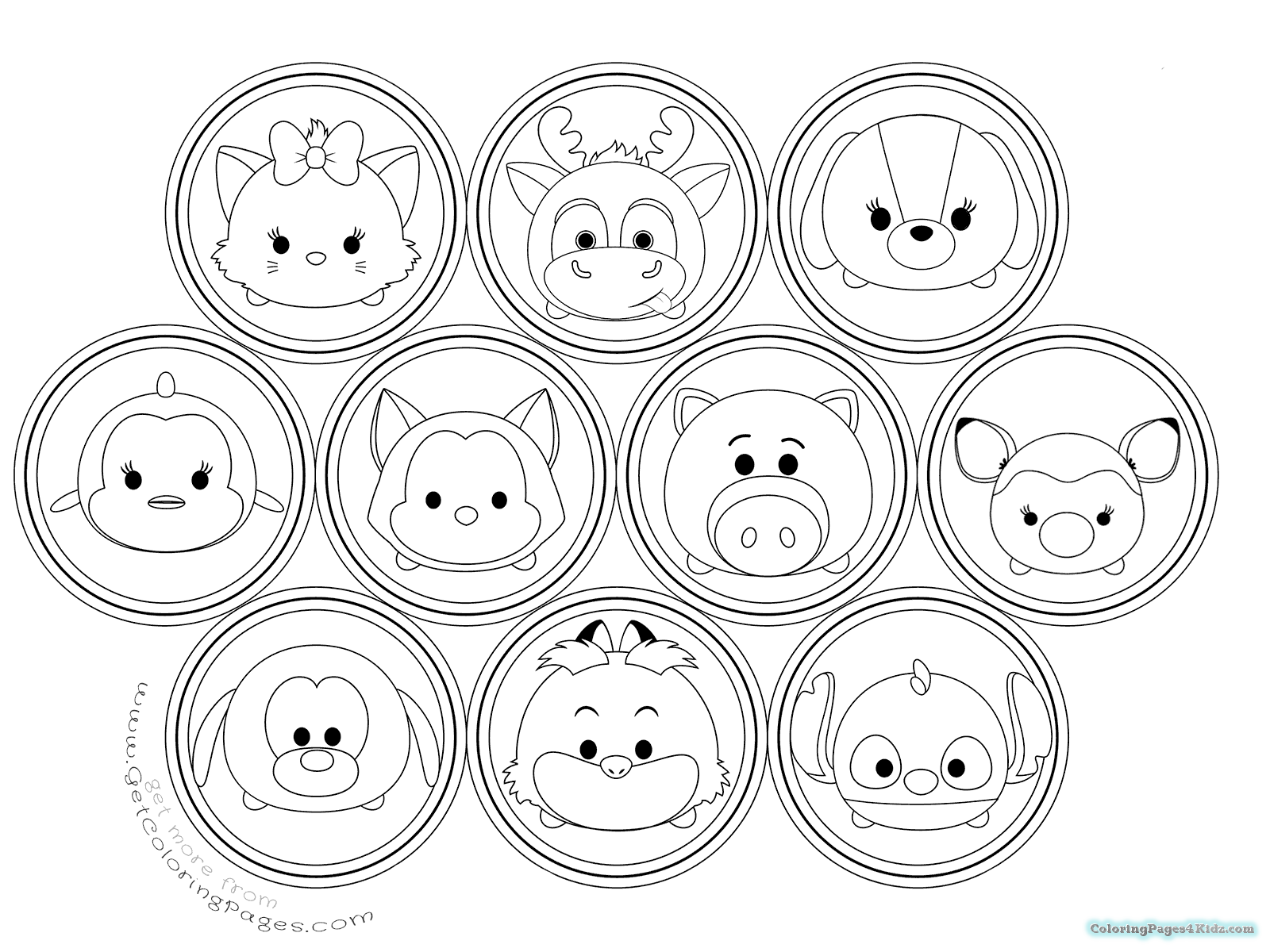 marvel tsum tsum coloring pages