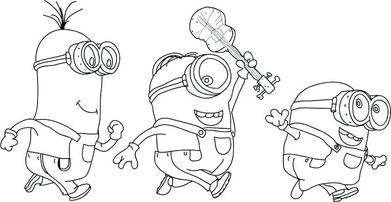merry christmas minions coloring pages