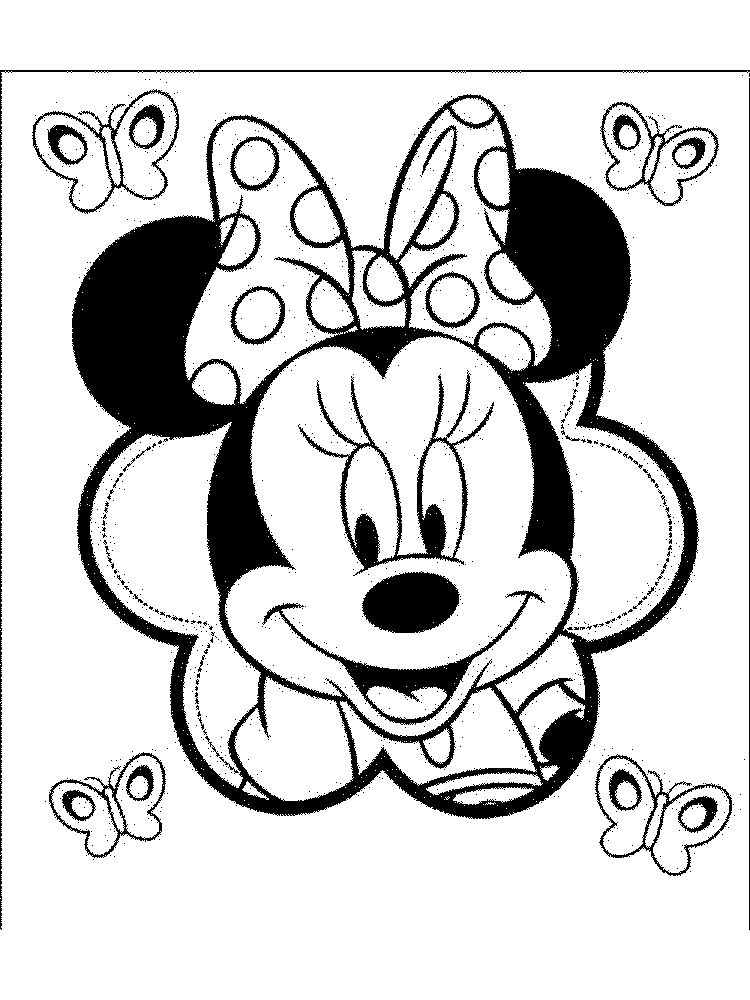 mickey face coloring page