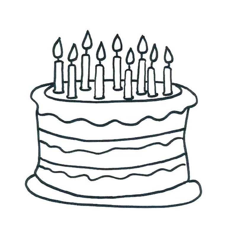 mickey mouse birthday cake coloring pages