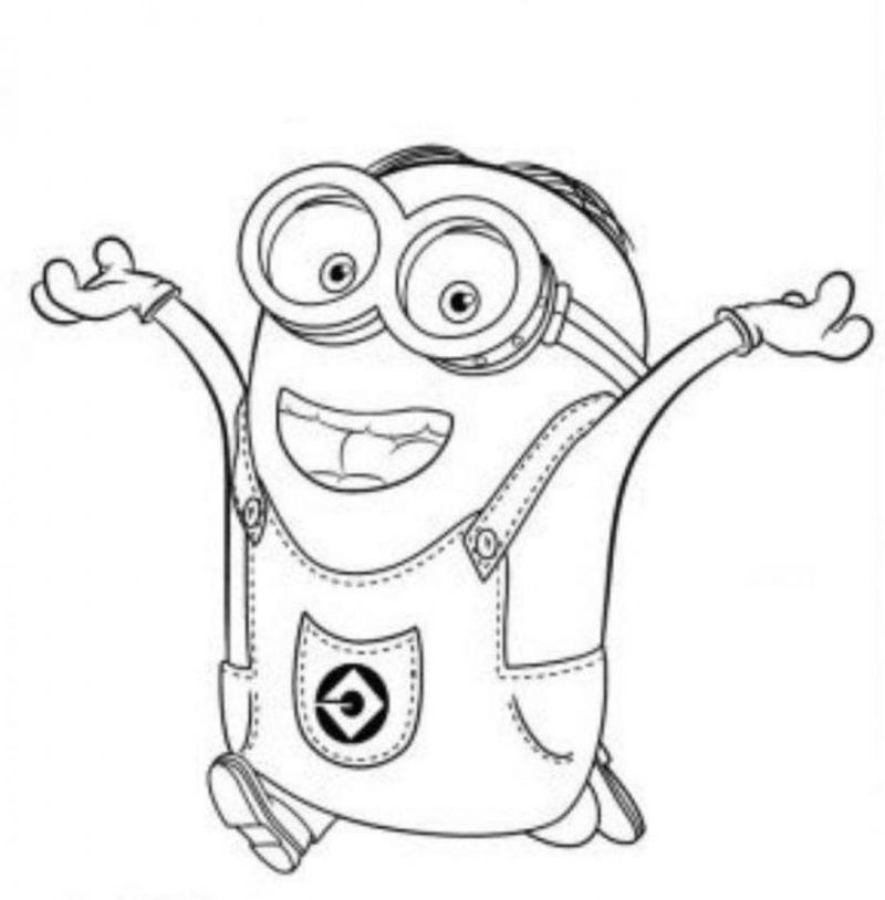 minion colouring pages printable free