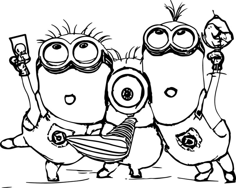 minions characters coloring pages