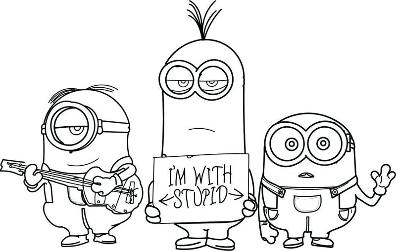 minions coloring page printable
