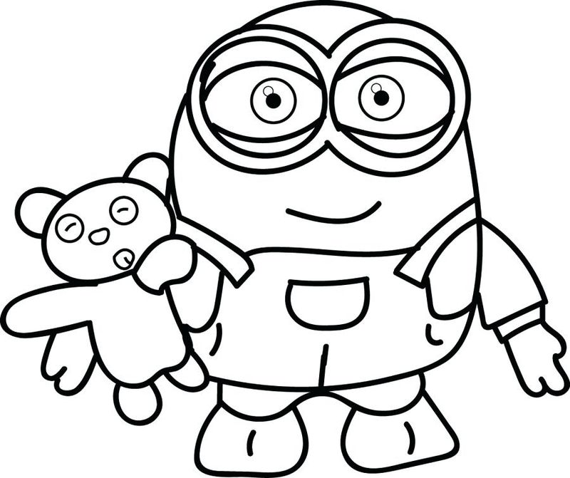minions colouring pages free