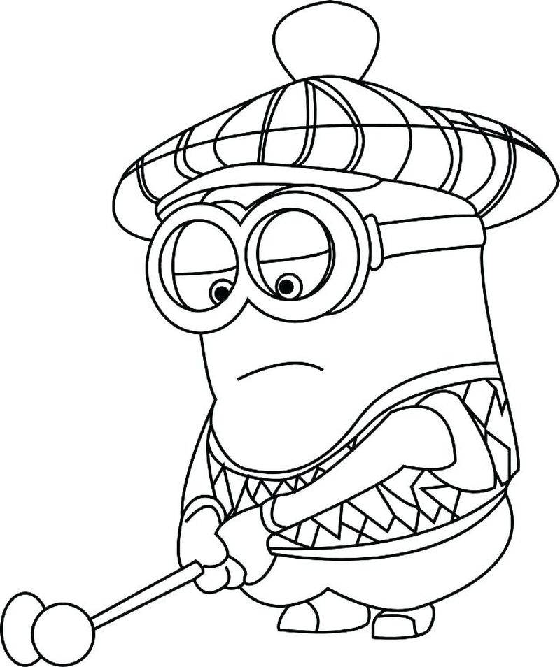minions summer coloring pages