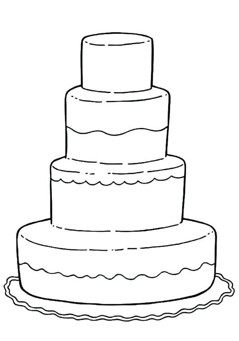 minnie mouse birthday cake coloring pages