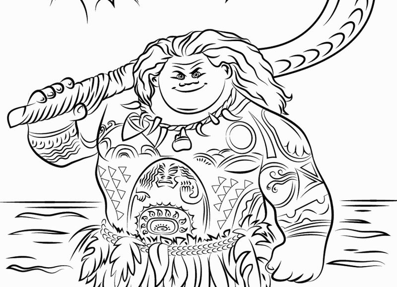 moana birthday coloring pages