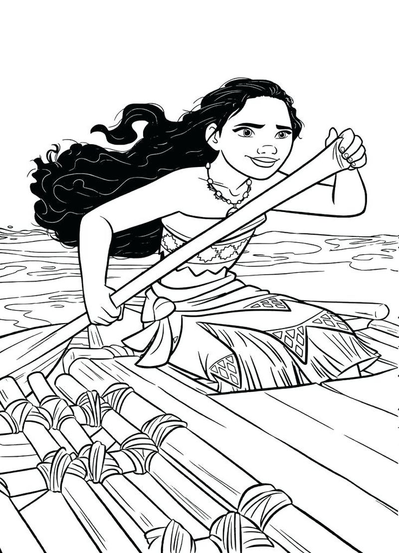 moana blank coloring pages
