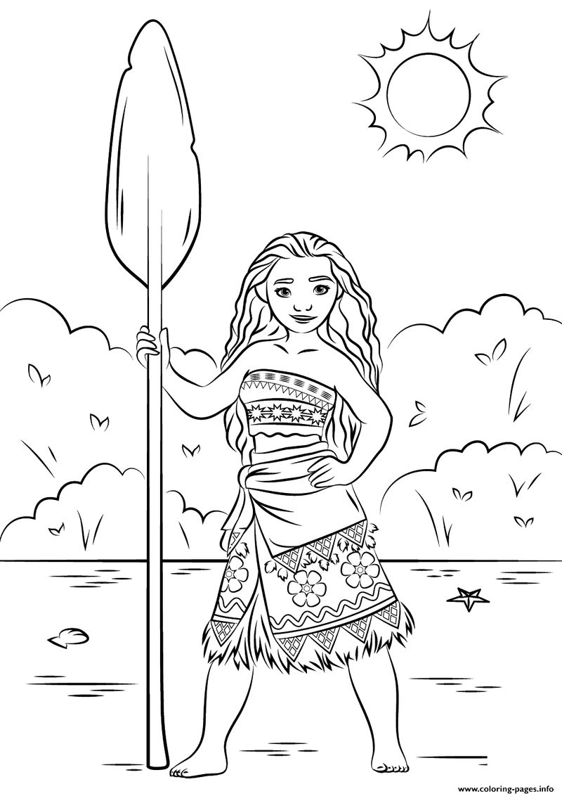 moana boat coloring pages