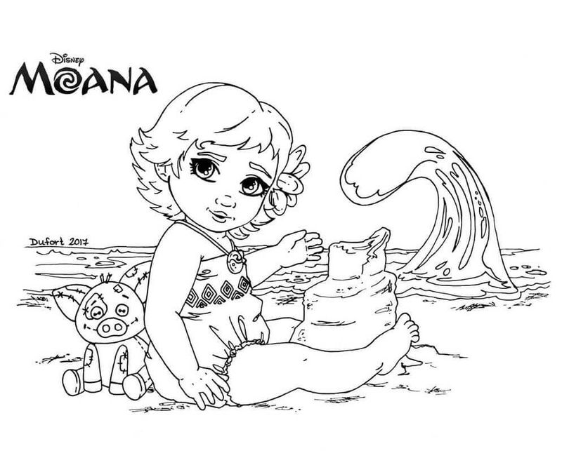 moana colouring pages a4