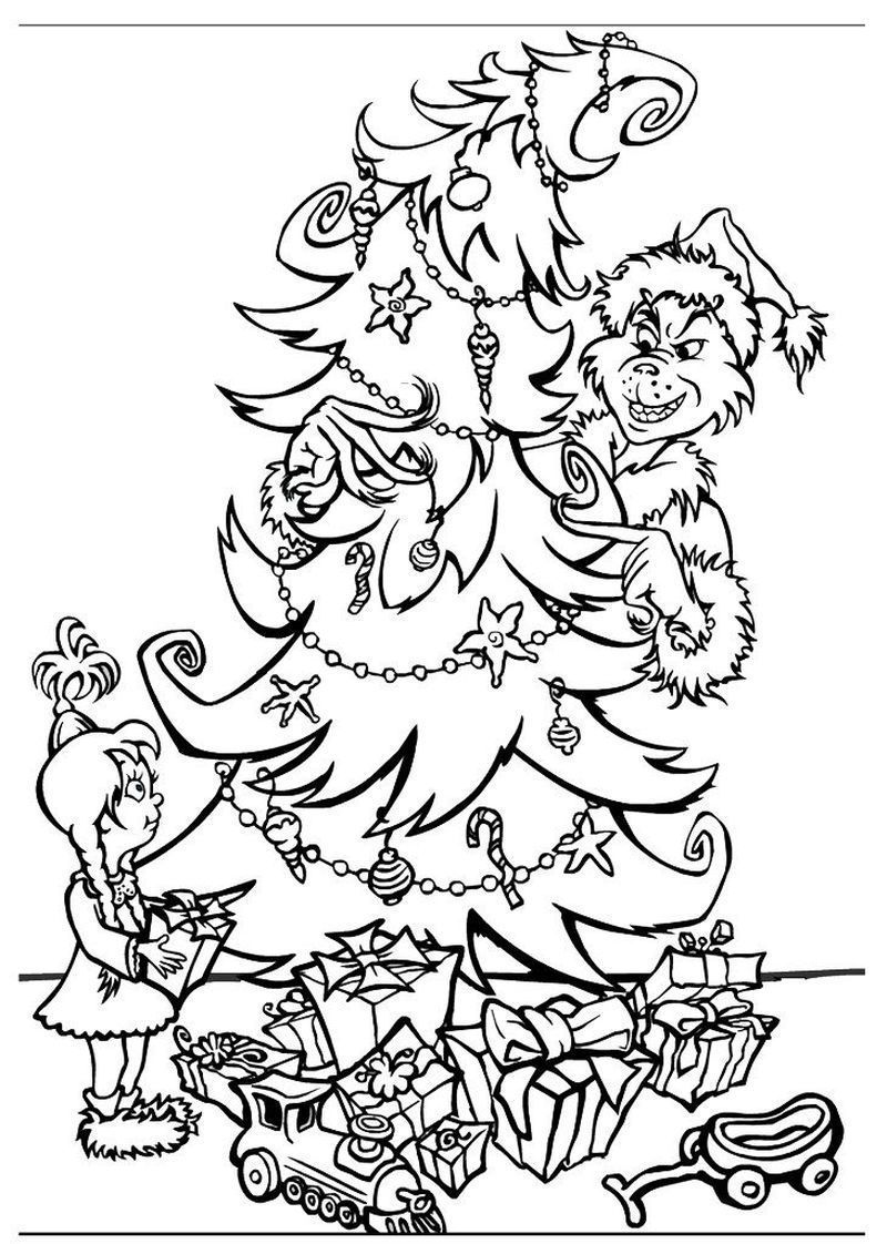 mr grinch coloring pages