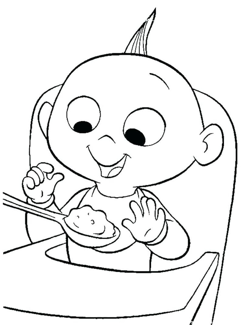 mr incredibles coloring pages