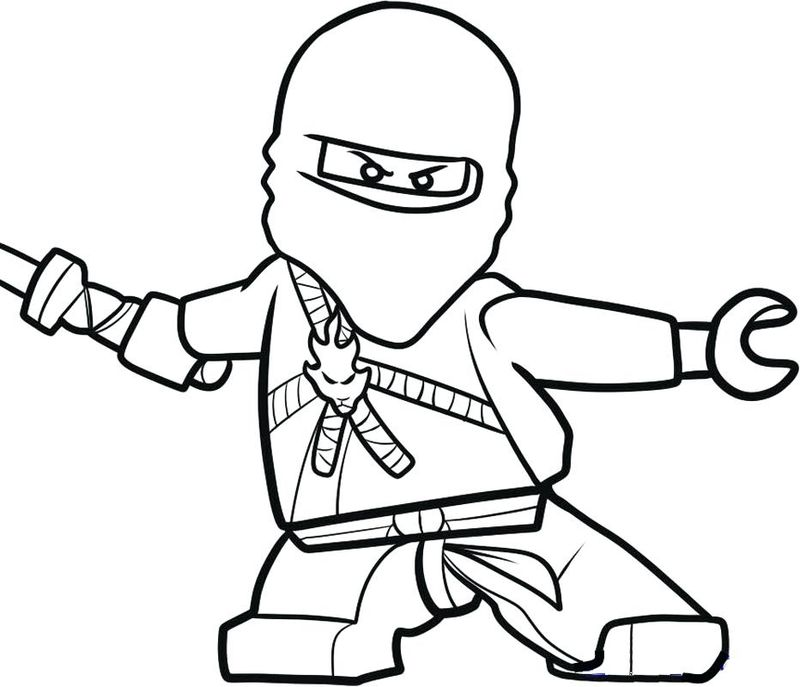 ninja coloring pages easy