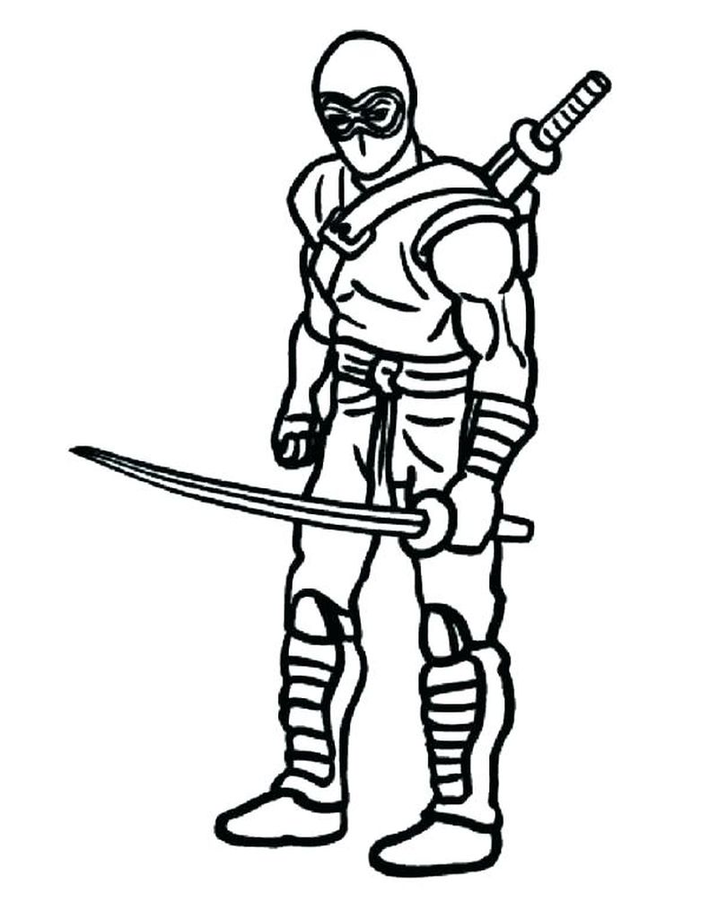ninja coloring pages for adults