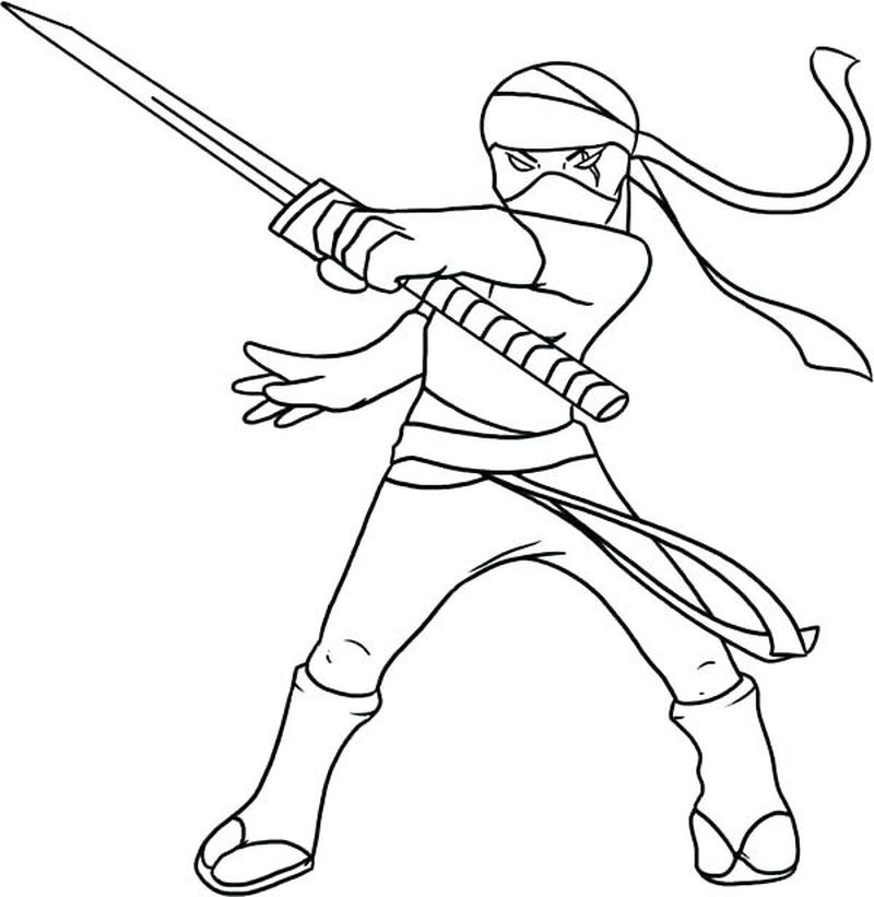 ninja coloring pages for preschoolers
