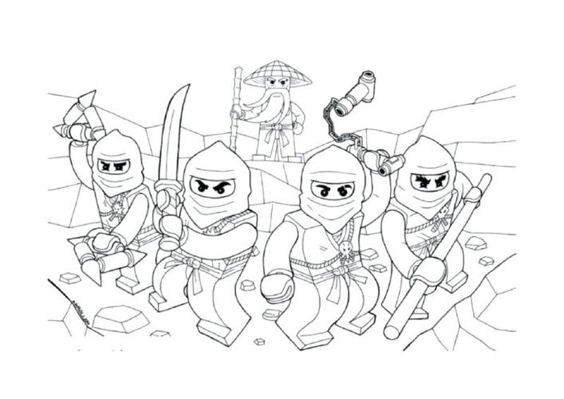 ninja coloring pages online
