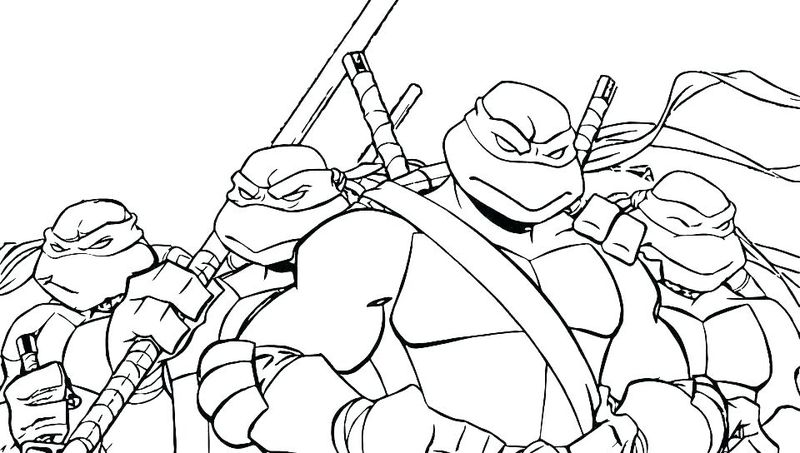 ninja coloring sheets for toddlers