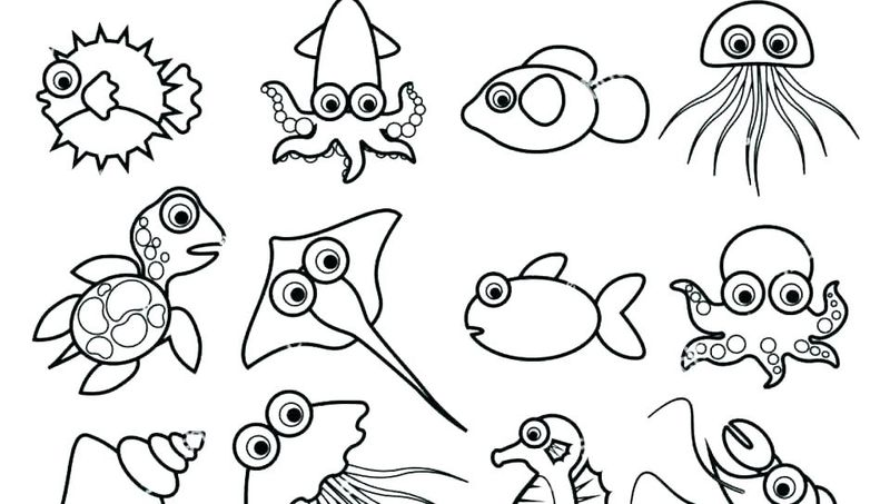 ocean creatures printable coloring pages