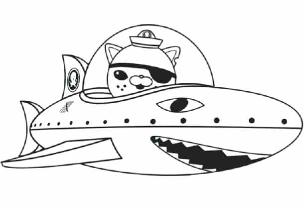 octonauts characters coloring pages free