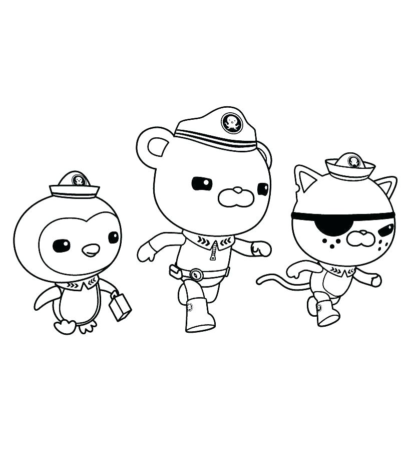 octonauts colouring pages bbc