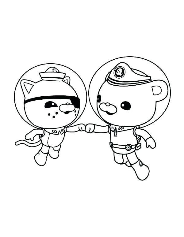 octonauts colouring pages