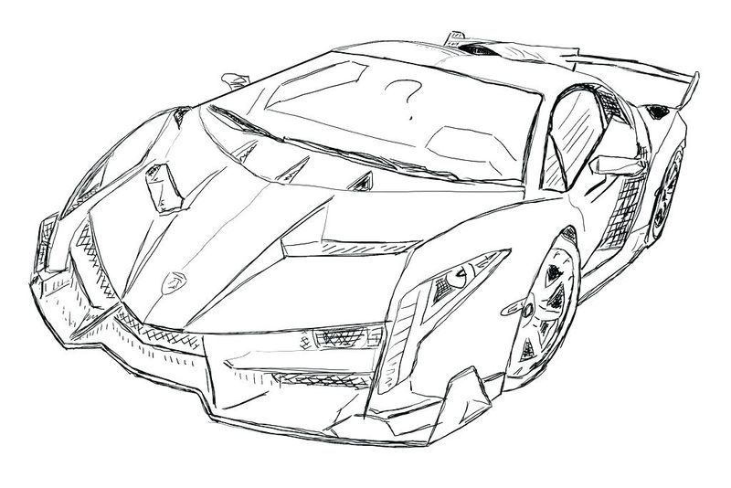 old lamborghini coloring pages
