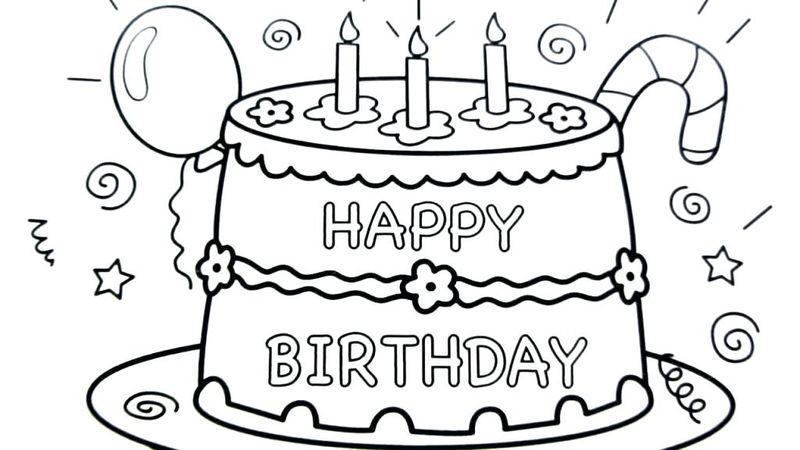 online coloring pages cake