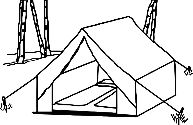 outdoor camping coloring pages