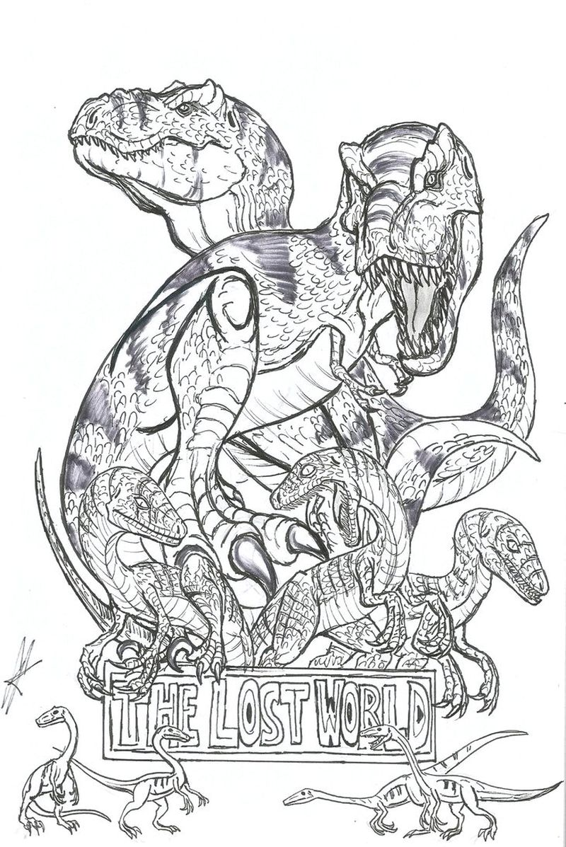 owen from jurassic world coloring pages