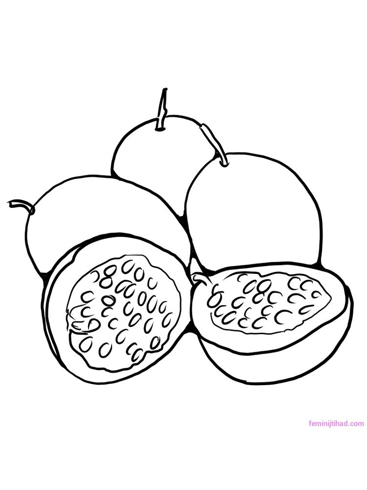 passion fruit coloring pictures print free