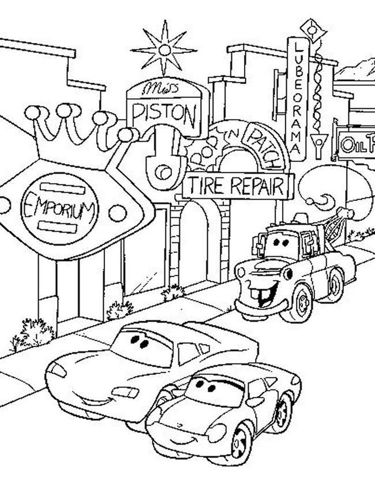 pdf disney cars coloring pages free printable