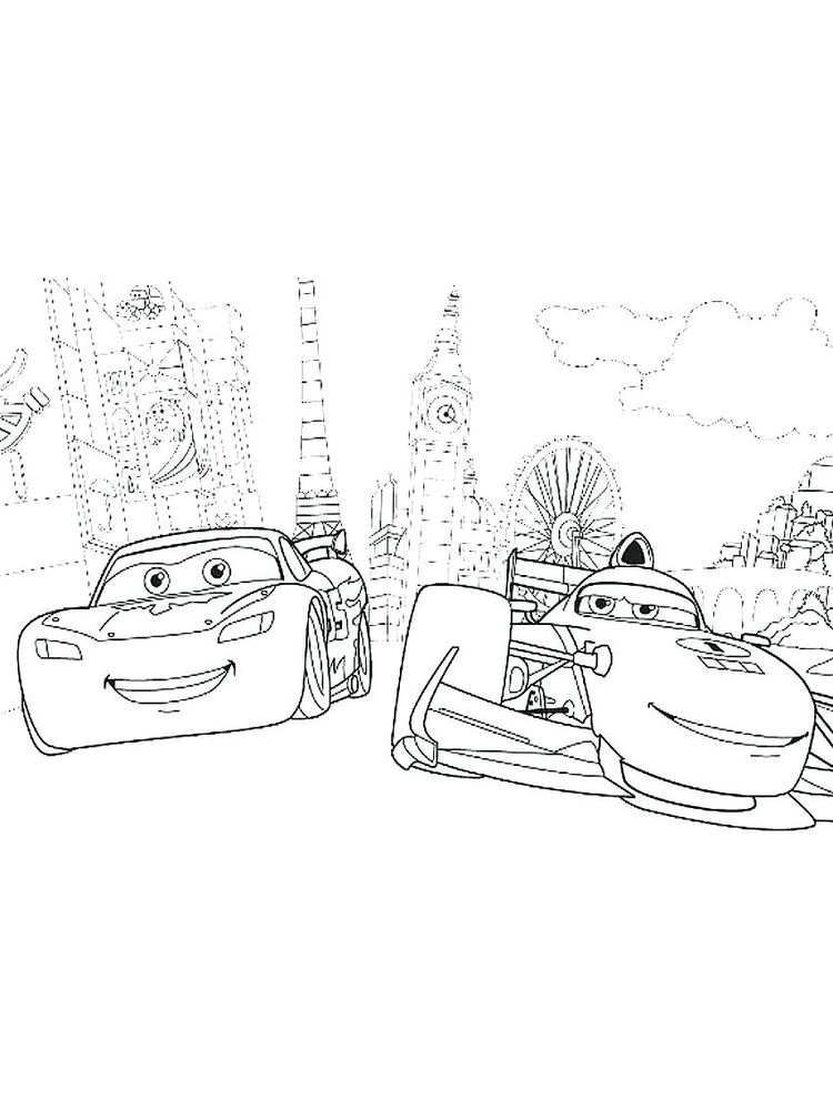 pdf disney cars colouring pages printable